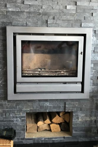 Inset wood burning stove Sussex stove and maintenance