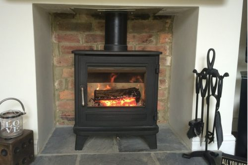 Word burning stove. Sussex stove and maintenance